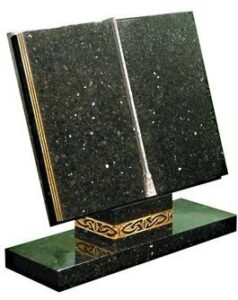 Beautiful Book Headstone
