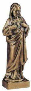 image Bronze headstone statue
