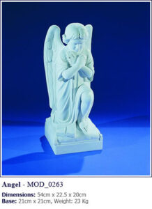 Marble statues for headstones