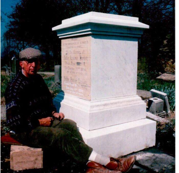 Marble memorial renovation