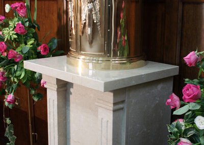 example of baptismal font work