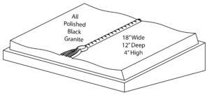 Polished Black Granite Desk Book Memorial
